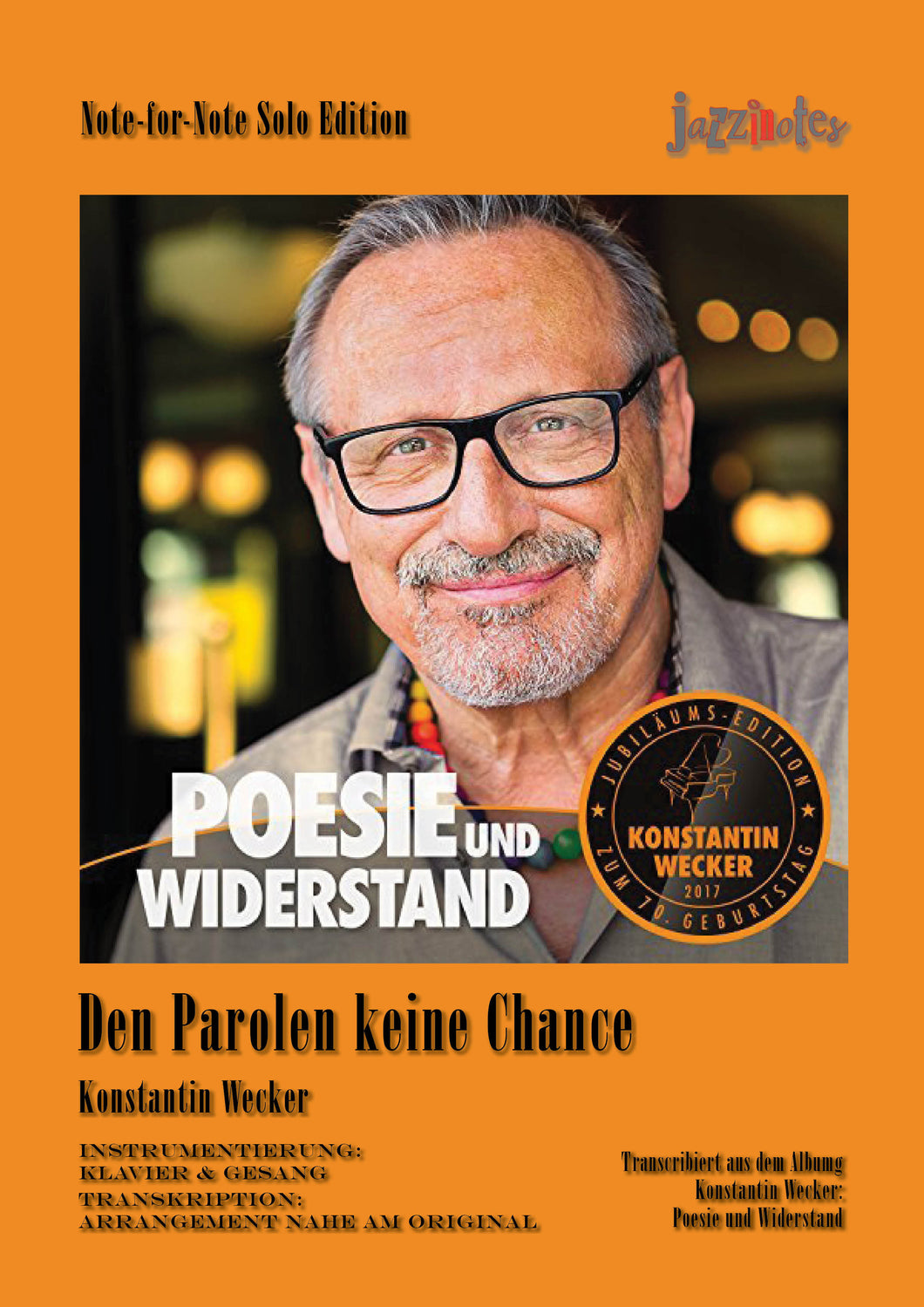 Wecker, Konstantin: Den Parolen keine Chance - Noten Download