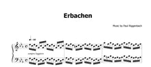 Lade das Bild in den Galerie-Viewer, Riggenbach, Paul: Erbachen - Musiknoten Download