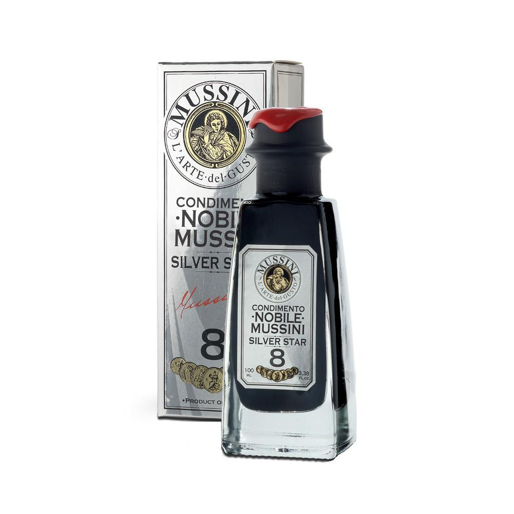 8 Year Aged Nobile Mussini Silver Store, Glass Bottle with Decorative Display Box by Mussini, Made in Italy