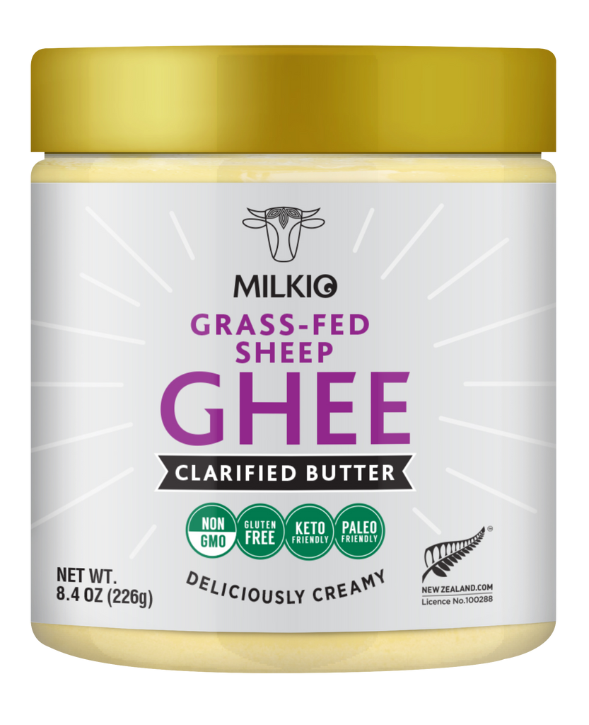 Culutred Grass-fed Sheep Ghee Clarified Butter by Milkio Foods, Non GMO, Gluten Free, Keto Friendly, Paleo Friendly, Made in New Zealand