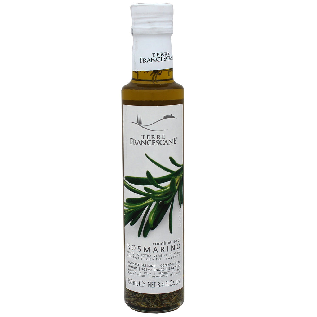 Rosemary Flavored Olive Oil by Terre Francescane, Made in Italy