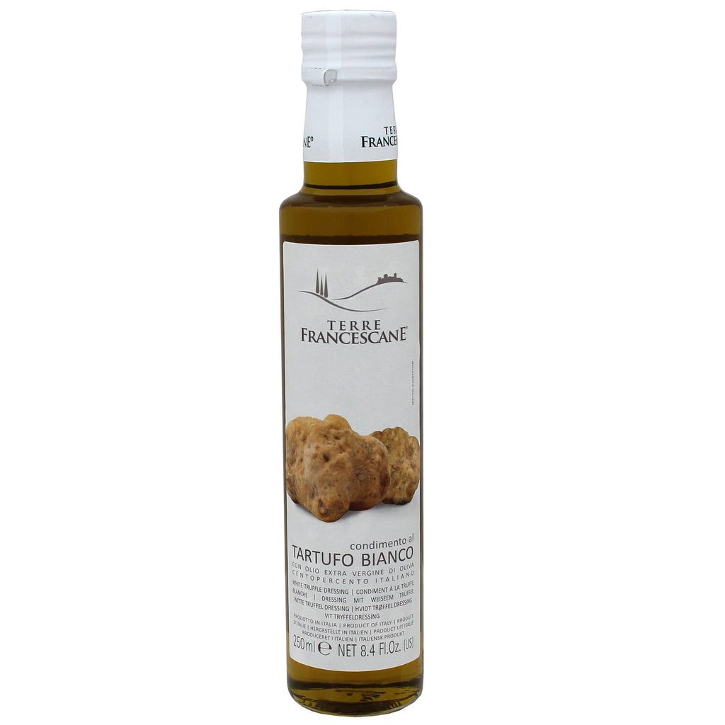 White Truffle Naturally Flavored Olive Oil by Terre Francescane, Made in Italy