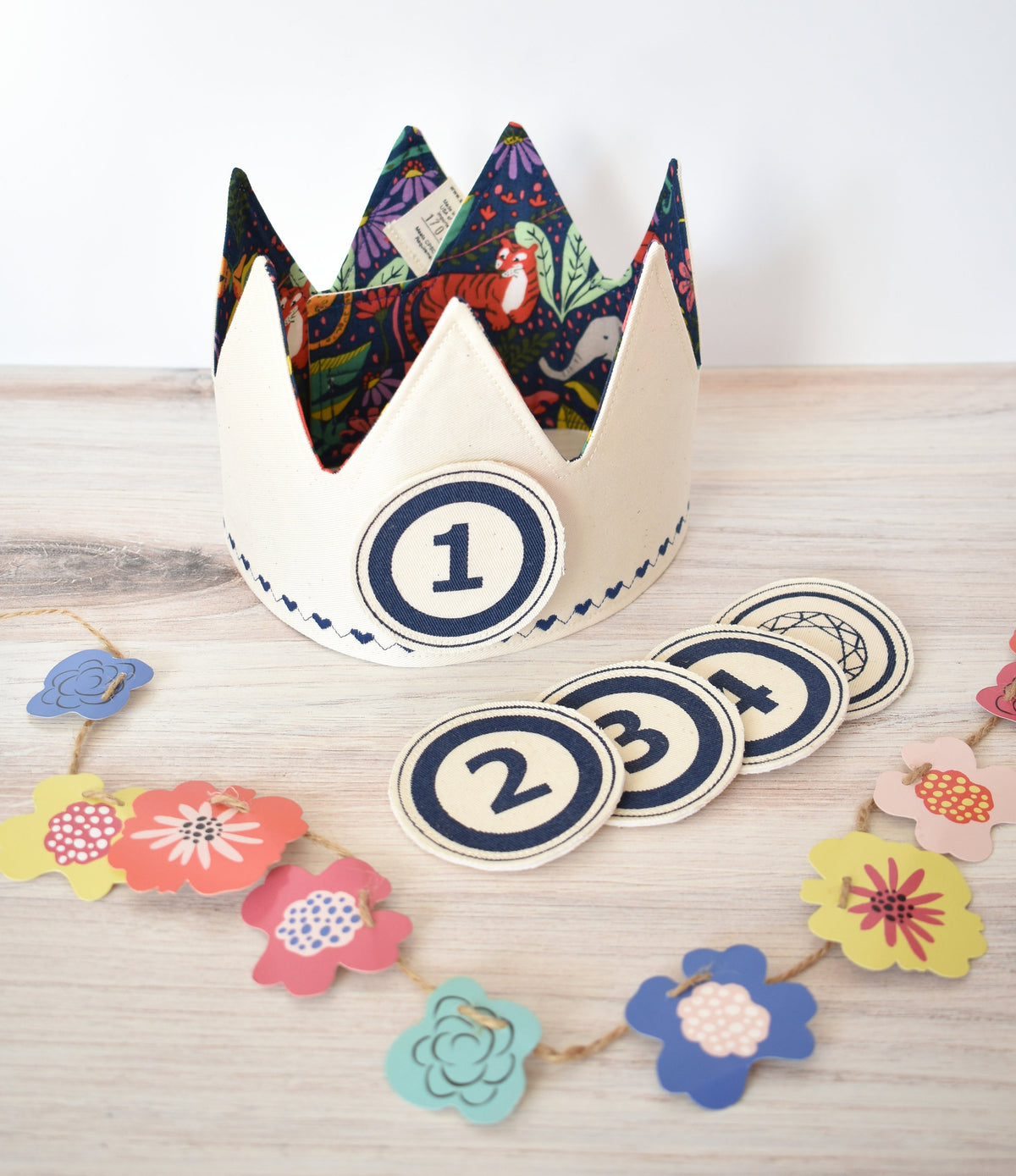 Blue and Teal Birthday Crowns