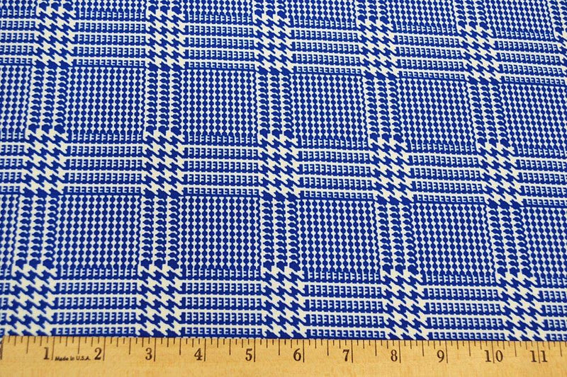 Techno Houndstooth Blue 5 YARDS