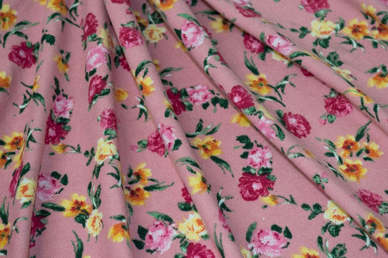 Double Brushed Floral Ditzy Blush 5 YARDS