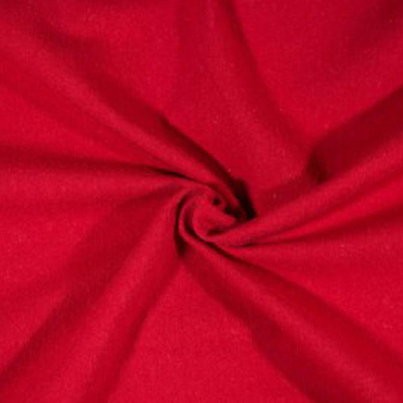 Cotton Spandex Solid Red Scarlet 3 YARDS, 5 YARDS