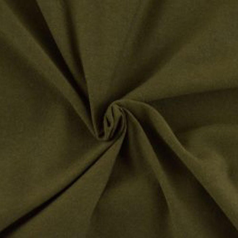 Cotton Spandex Solid Olive 3 YARDS, 5 YARDS