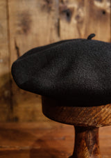 French Wool Beret - Black