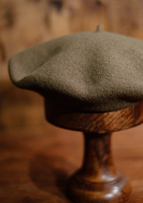French Wool Beret - Green