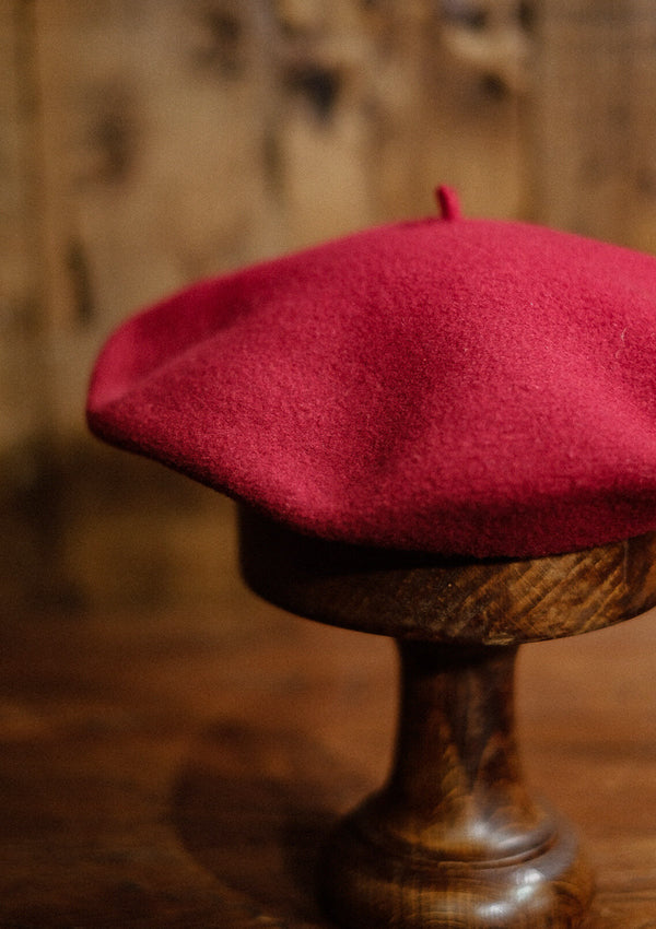 French Wool Beret - Red