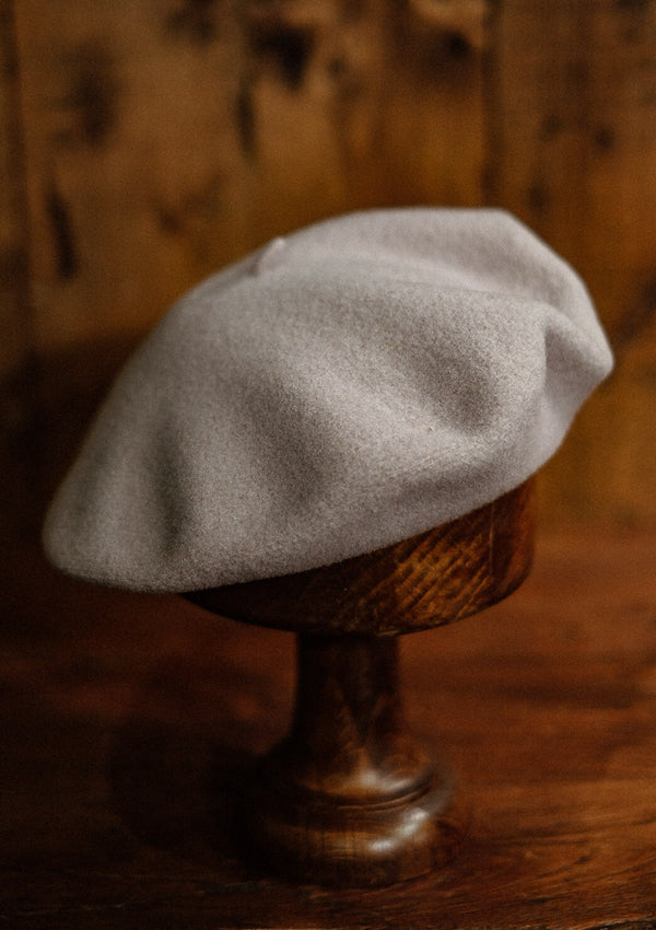 French Wool Beret - White
