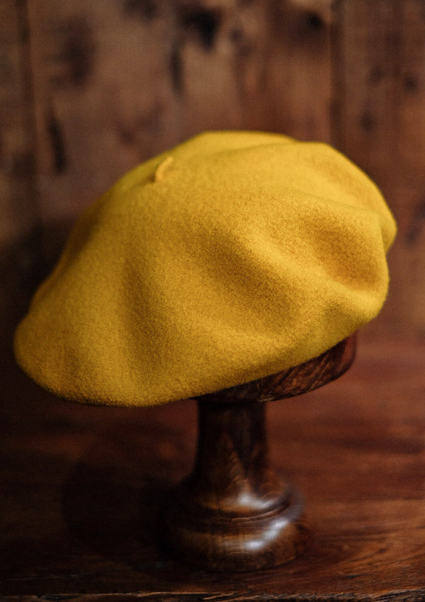 French Wool Beret - Yellow