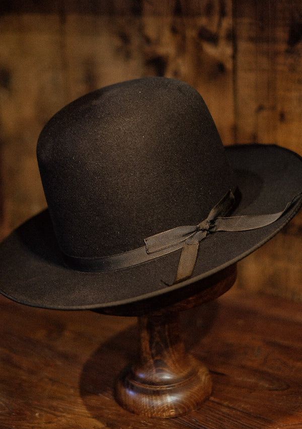 Burbank Rancher Hat - Open Crown - Black