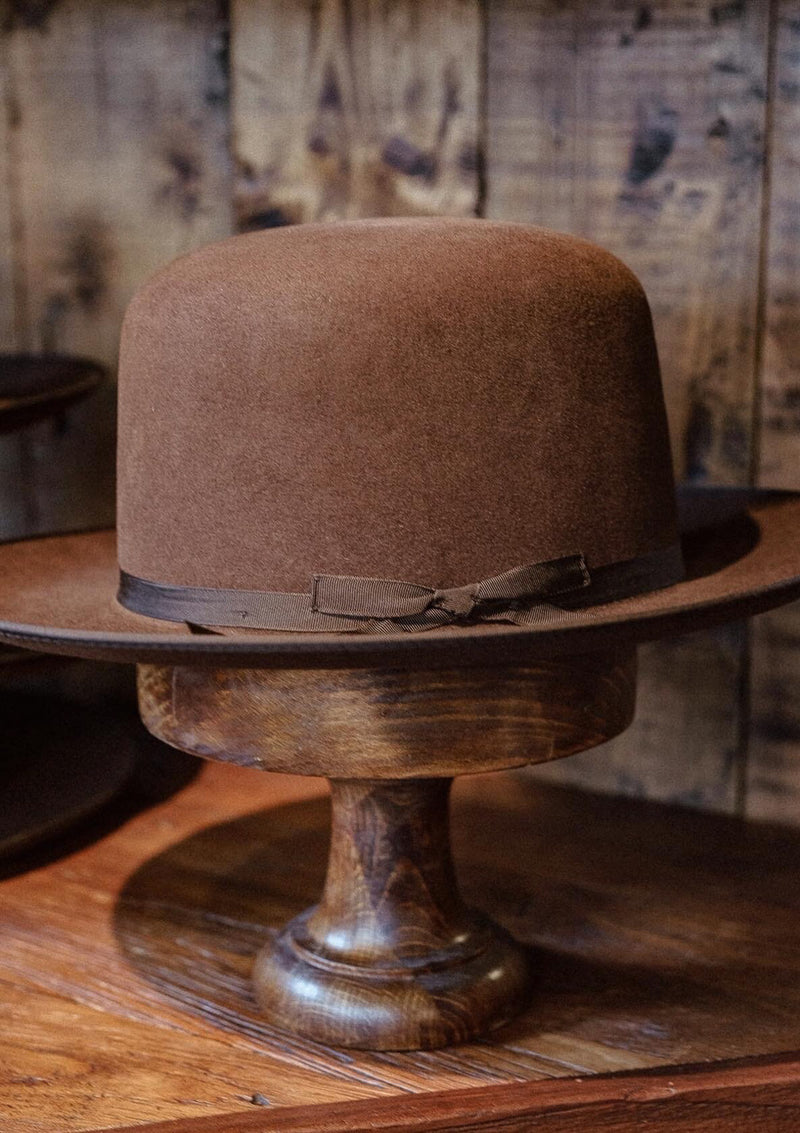 Burbank Rancher Hat - Open Crown - Brown