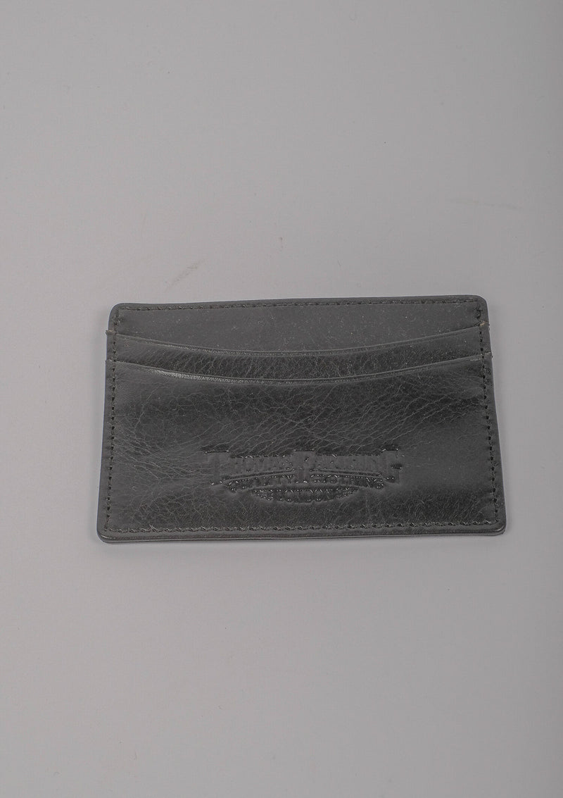 Card Wallet - Black Leather