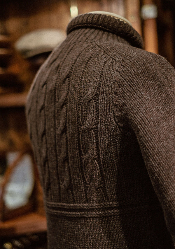 Clapperton Half Cable Knit - Brown