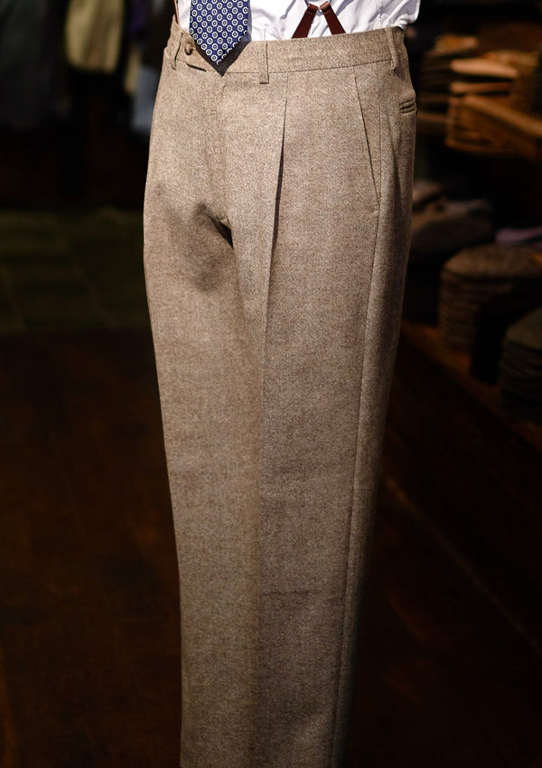 Erikson Tweed Trousers - Oatmeal