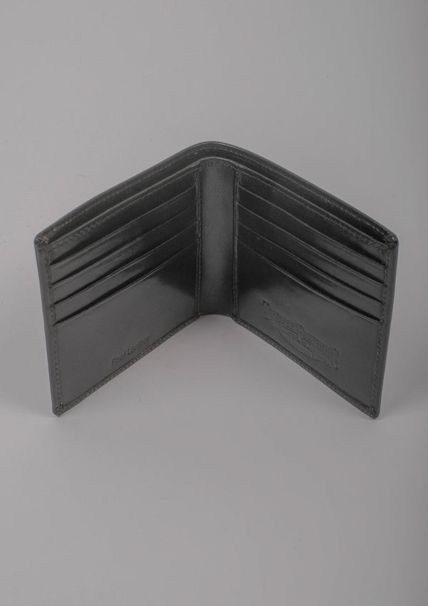 Folding Card Wallet - Black Leather