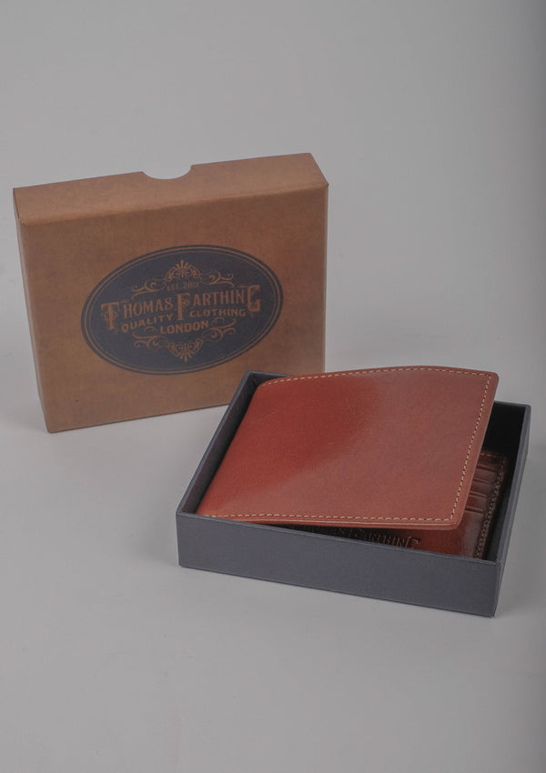Folding Card Wallet - Tan Leather