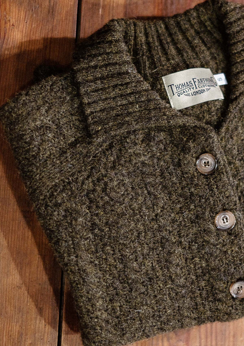 Frances Ladies Cardigan - Pine Green