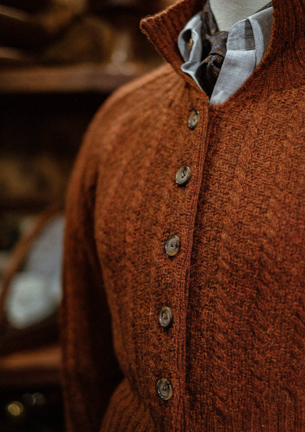 Frances Ladies Cardigan - Rust
