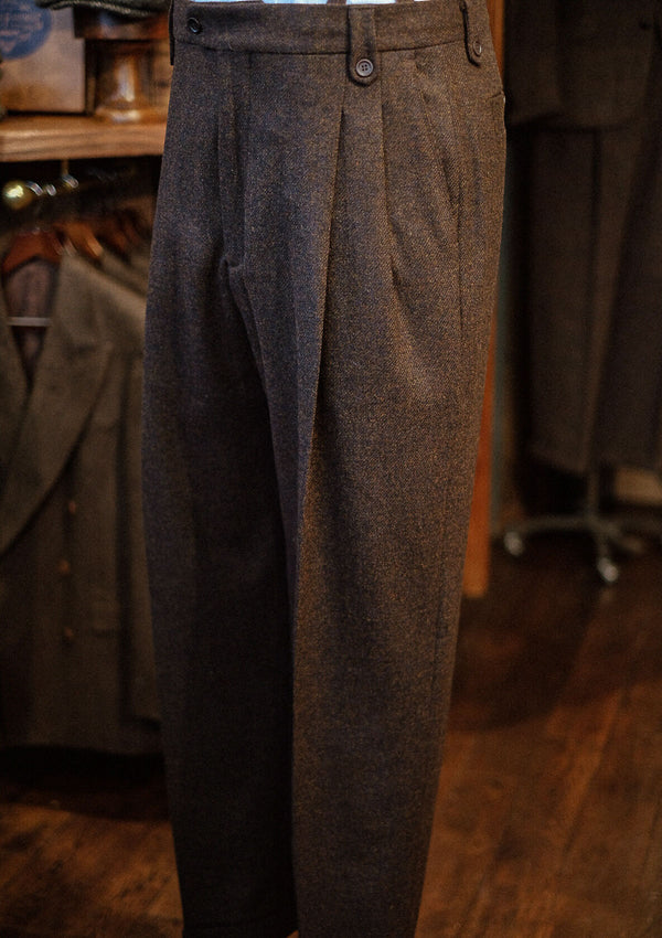 Gene Trousers - Dark Brown Flannel