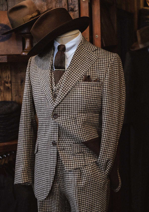 Goodman Suit Jacket - Undyed Natural Houndstooth