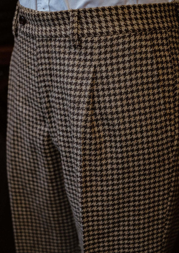 Goodman Classic Suit Trousers - Undyed Natural Houndstooth