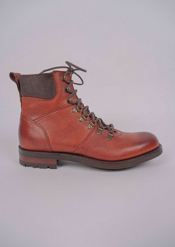 Ingleborough Hiker Boot - Mahogany Grain Leather