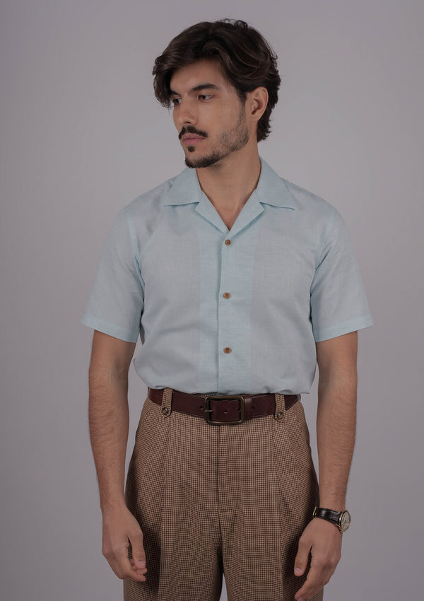 Ipanama Cotton Linen Blend Shirt - Mint