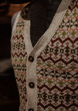 Lambert Fair Isle - Biscuit Button Down