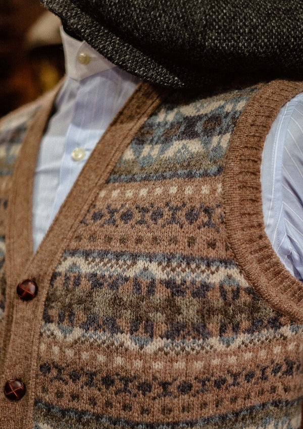 Lambert Fair Isle - Oatmeal Button Down