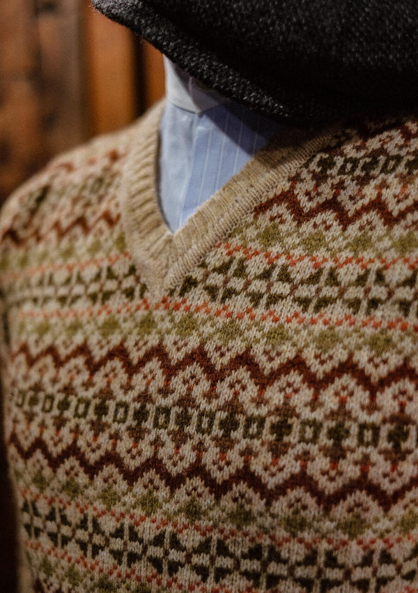 Lambert Fair Isle Sweater - Biscuit