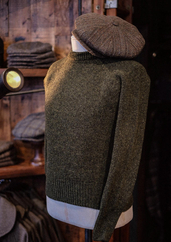 Mawson Lambs Wool Sweater - Pine Shadow