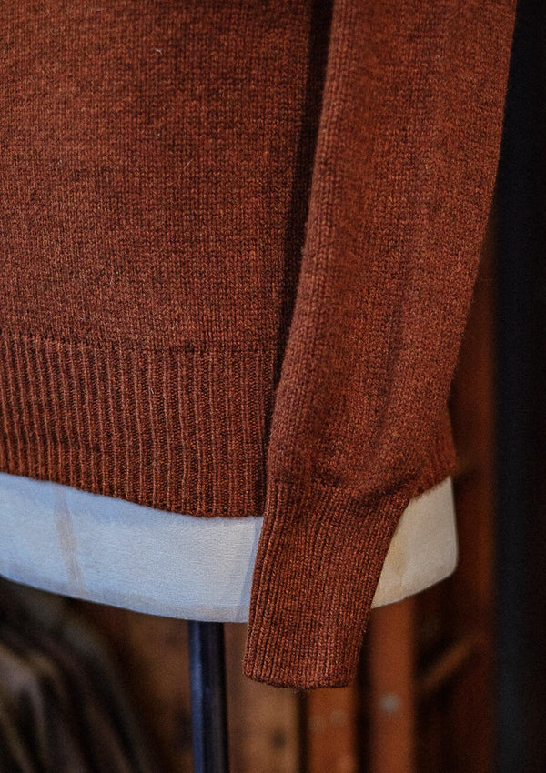 Mawson Lambs Wool Sweater - Rust