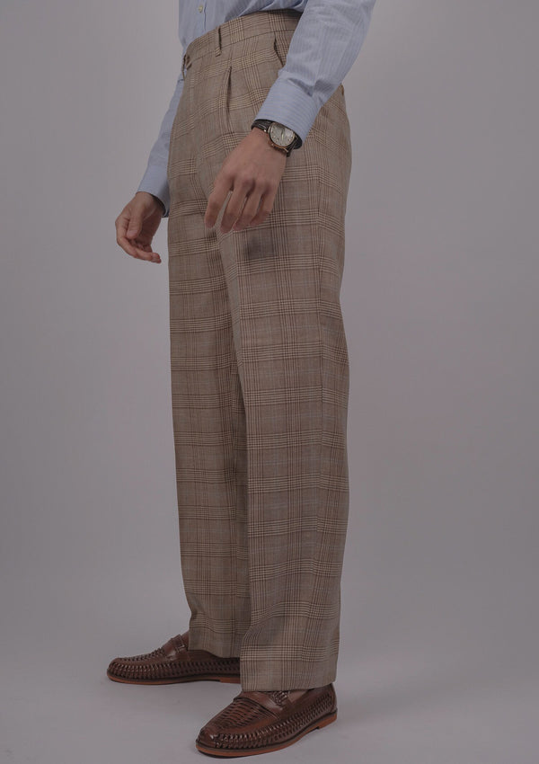 Paraiso Trousers - Prince Of Wales (Brown)