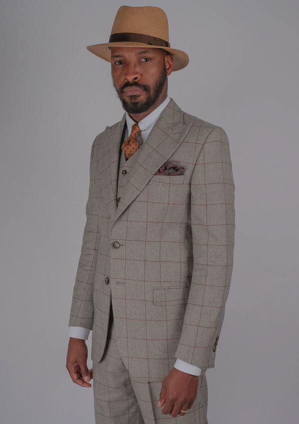 Ravello Suit Jacket - Cinnamon Check