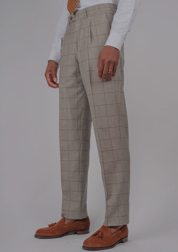 Ravello Trousers - Cinnamon Check