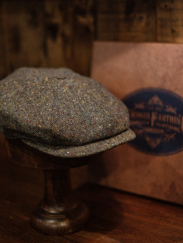 Ridgmount Baker Boy - Fern Green Donegal Tweed