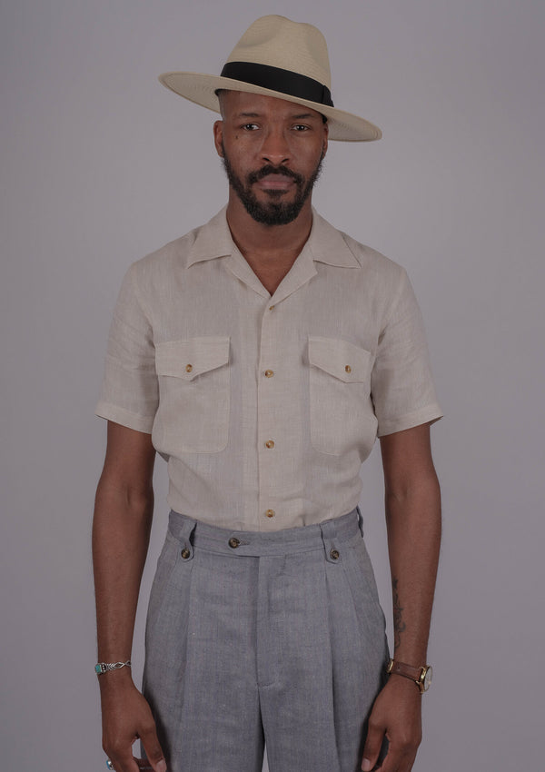 Salerno Linen Shirt - Buff Linen