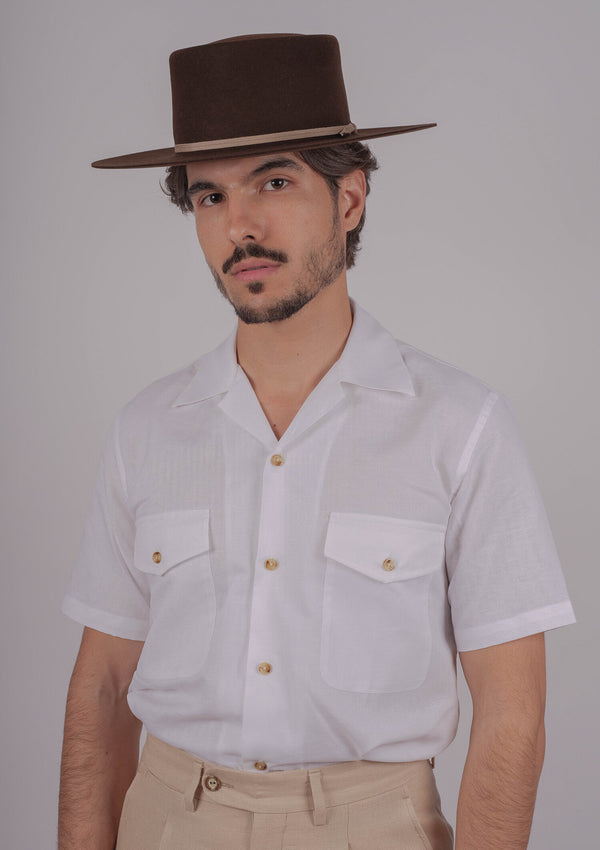 Salerno Linen Shirt - White