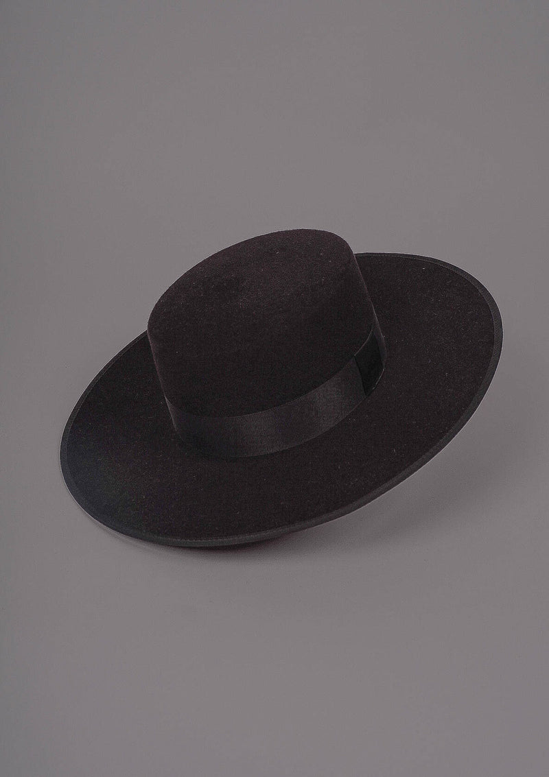 Sevillian Wide Brim Riding Hat - Black