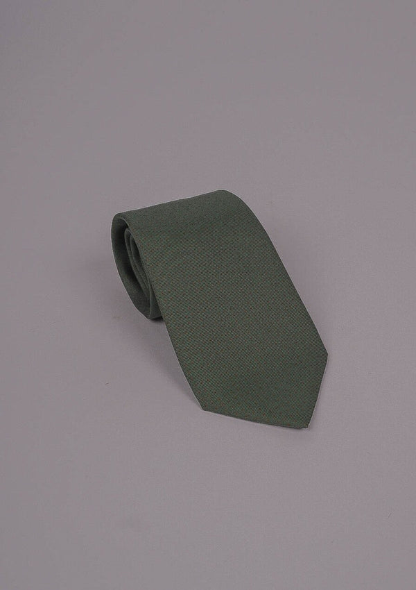 Vintage Inspired Silk Tie - Moss Green