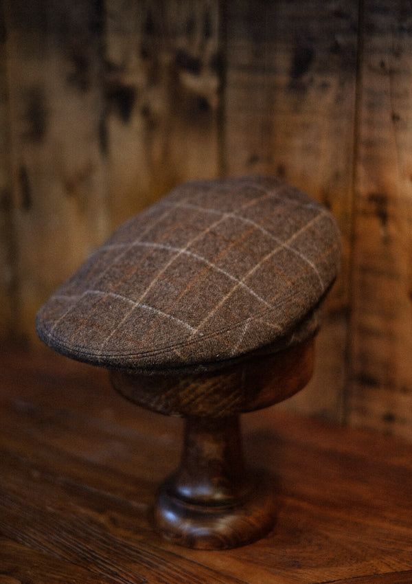 Thompson Flat Cap - Brown Check