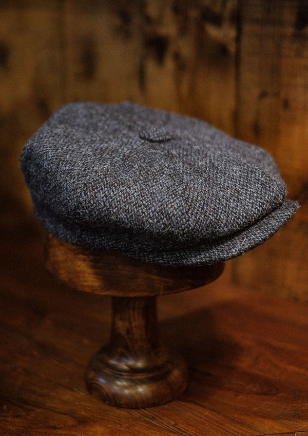 Torrington Baker Boy - (Mid-Width) Light Blue Harris Tweed
