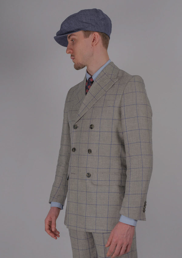Varsallone Suit Jacket - Navy Check