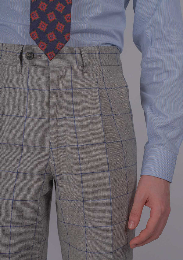Varsallone Trousers - Navy Check