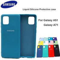 For Samsung Galaxy A51 A71 Case High Quality Soft Silicone Cover  Samsung Galaxy a71 a51  Protector Shell With Logo&Buttons