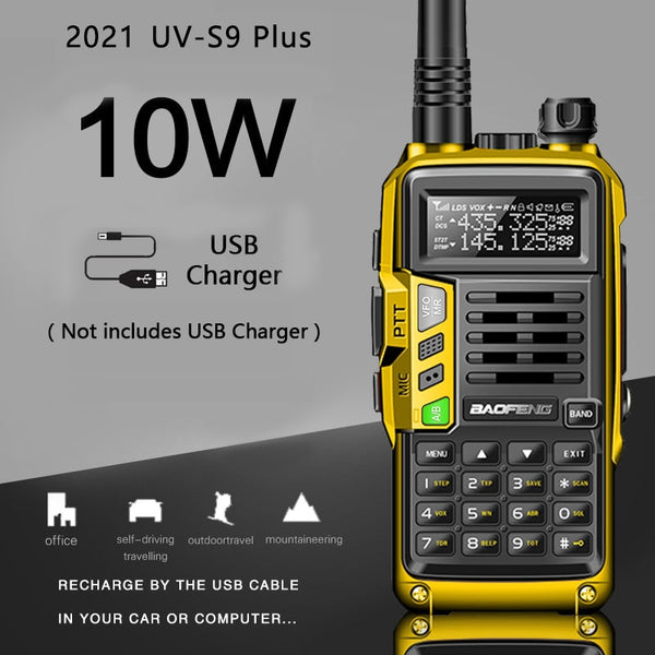 2021 BaoFeng UV-S9 Plus Powerful Walkie Talkie CB Radio Transceiver 8W/10W 10km Long Range up of uv-5r Portable Radio Hunt  City