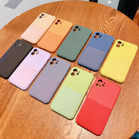 Liquid Silicone Luxury Case For Apple iPhone 11 12 Pro Max mini SE 2020 X XR XS Max 7 8 Plus Card Strap Holder Shell Case Cover